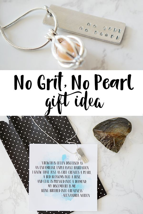 No Grit No Pearl necklace gift idea - Teacher Gift Idea