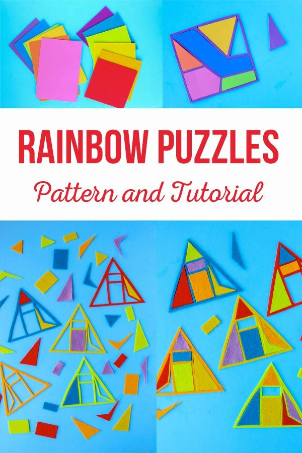 Rainbow Puzzles Pattern and Tutorial is a great way tofun activity with you th...