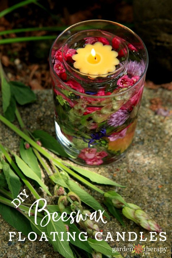 Set Summer Nights Aglow with Beeswax Flower Floating Candles - Floating candles ...