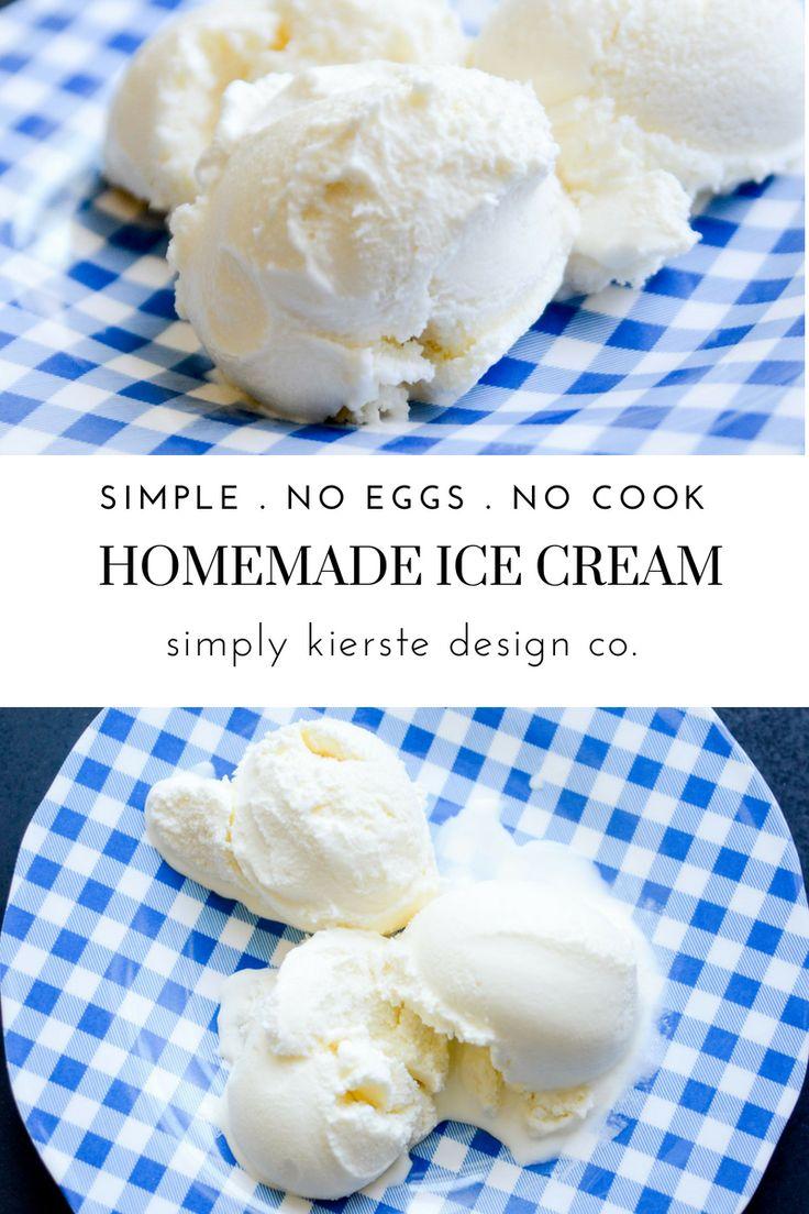 Simple Homemade Vanilla Ice Cream | No Eggs Recipe #nocookicecream #noeggsicecre...
