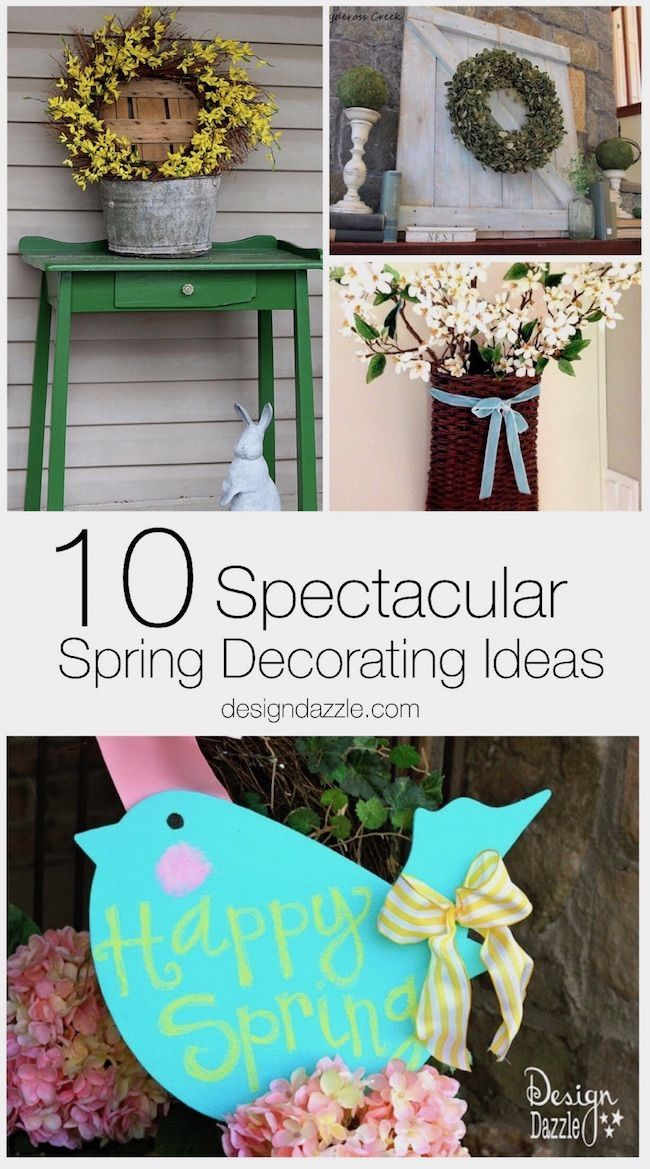 Spring decorating ideas, from a centerpiece to a front porch or mantle display, ...