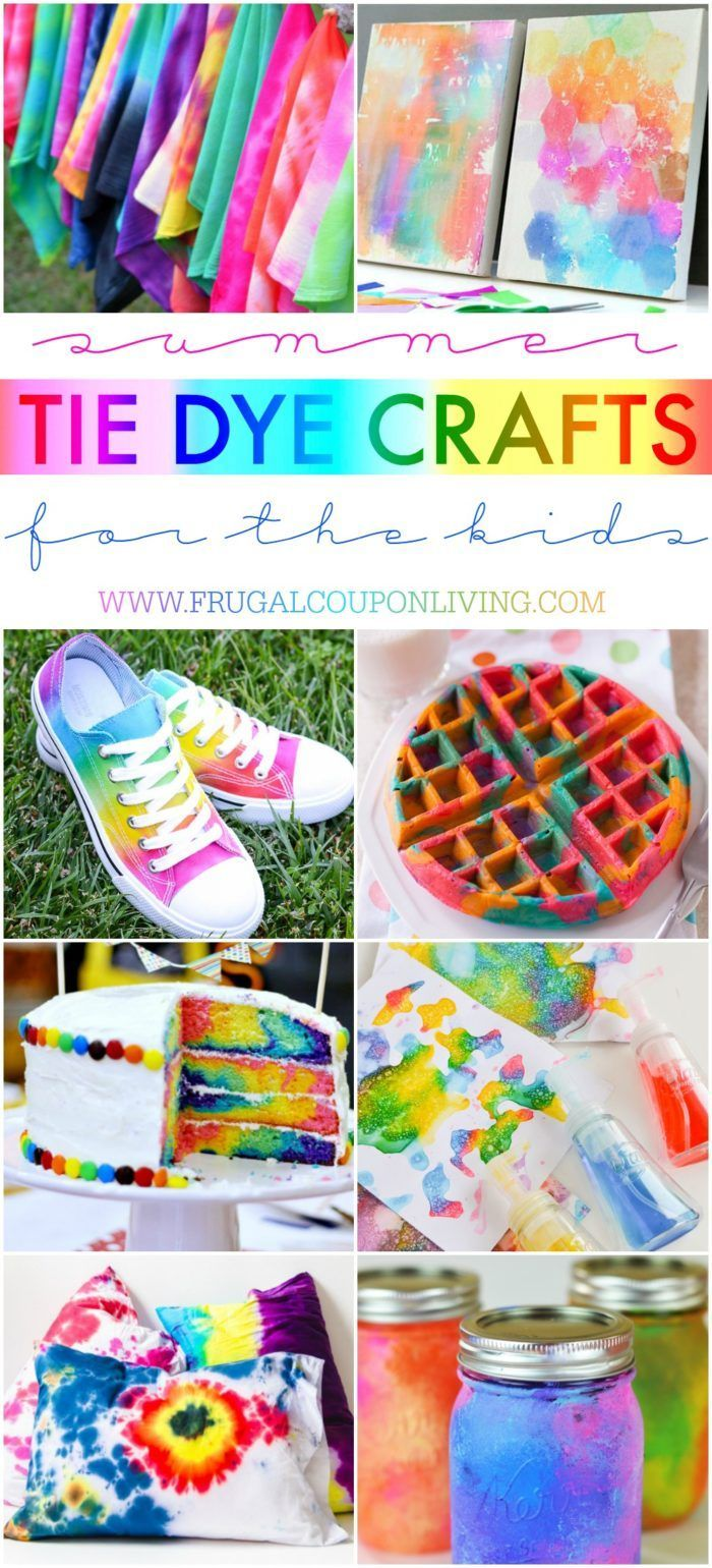 Summer Tie Dye Crafts on Frugal Coupon Living. Summer Bucket List Ideas for Kids...