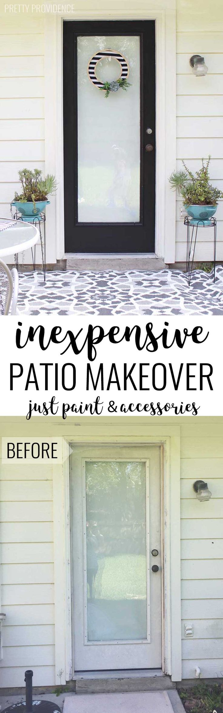 The power of PAINT! This door and patio area looks incredible and the transforma...