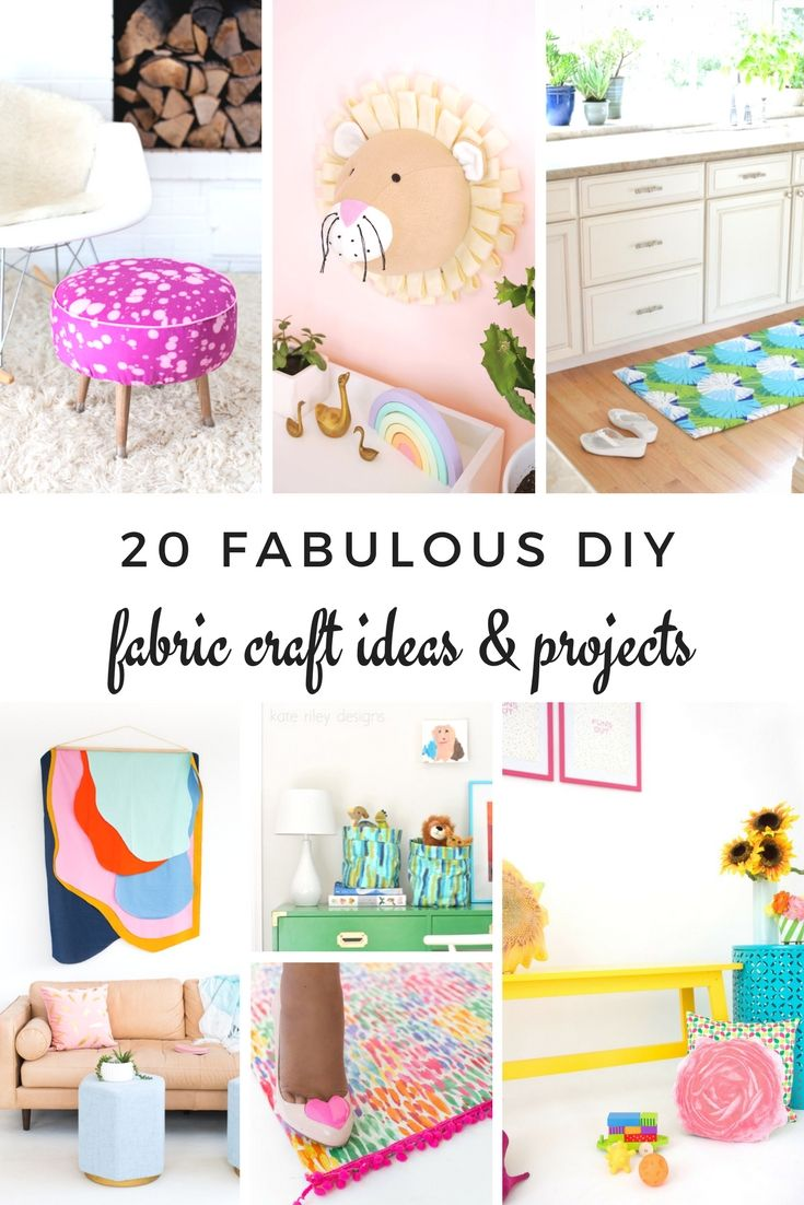 These fabric crafts and project ideas are super fun and easy to make! Fabric is ...