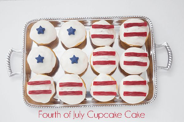 This Fourth of July flag cake is super easy to make! Easily turn your patriotic ...