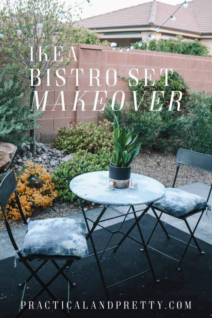 This simple IKEA bistro set got a major makeover and I can't wait for you to...