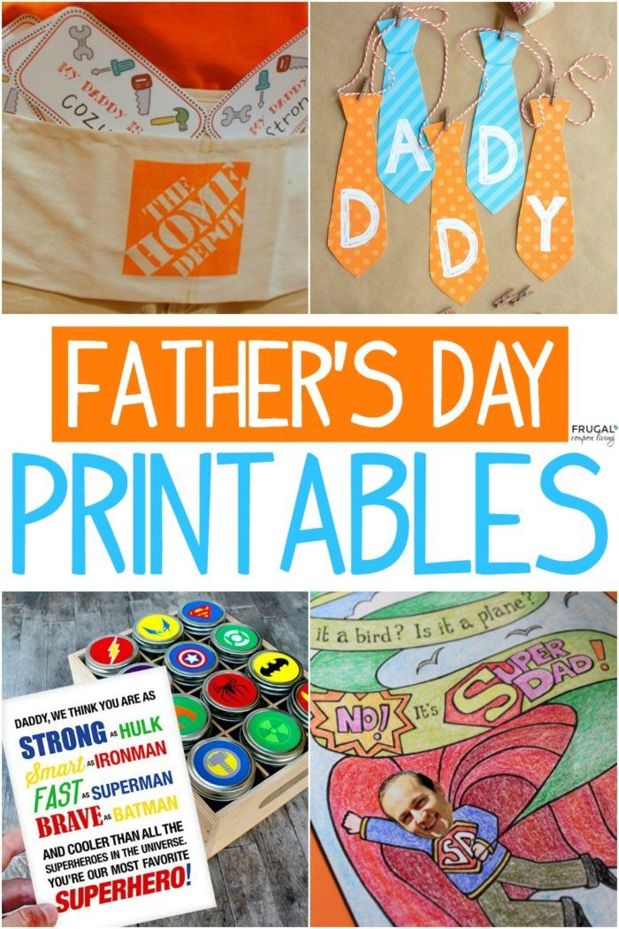 We gathered some of the most adorable and creative dad gifts in these free Fathe...