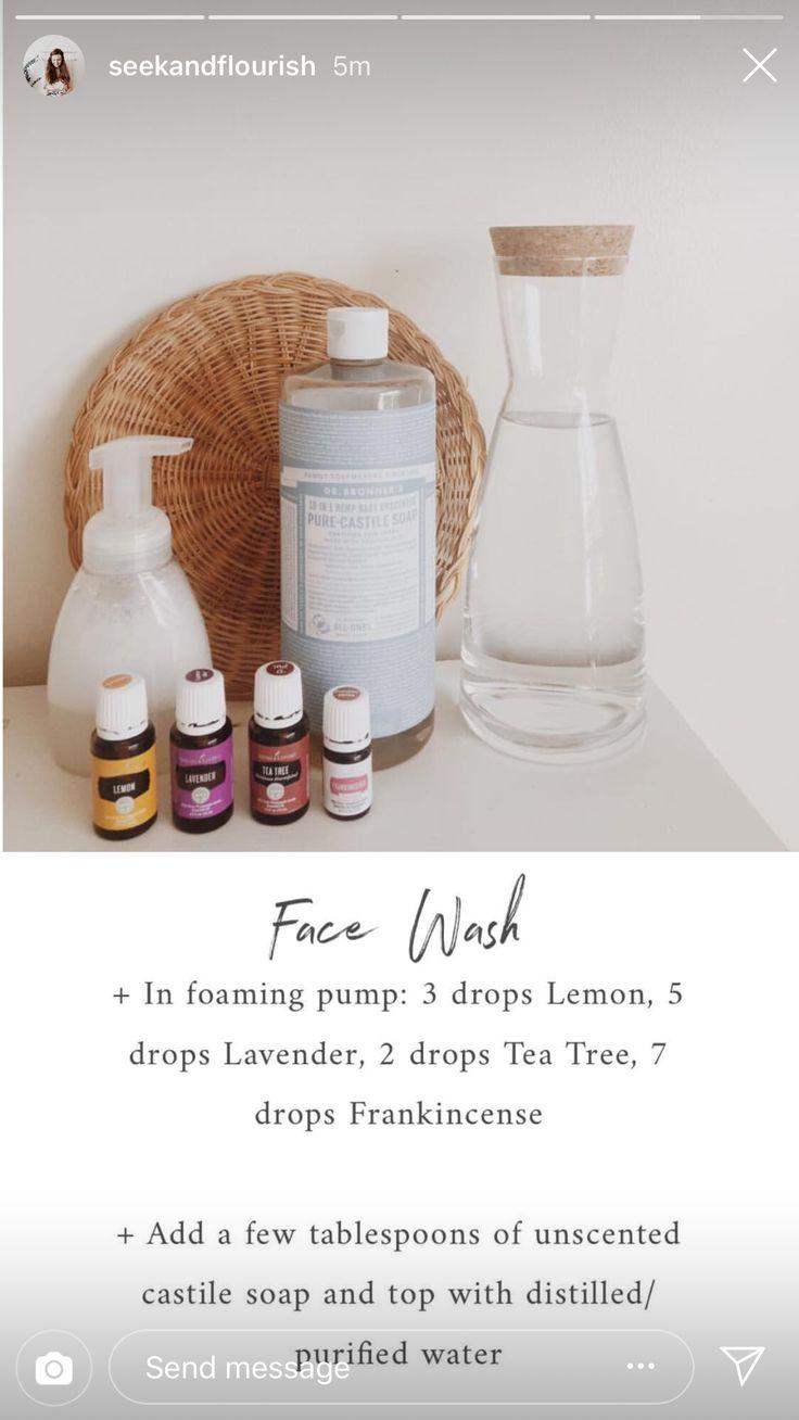 Face wash w/ Castile soap