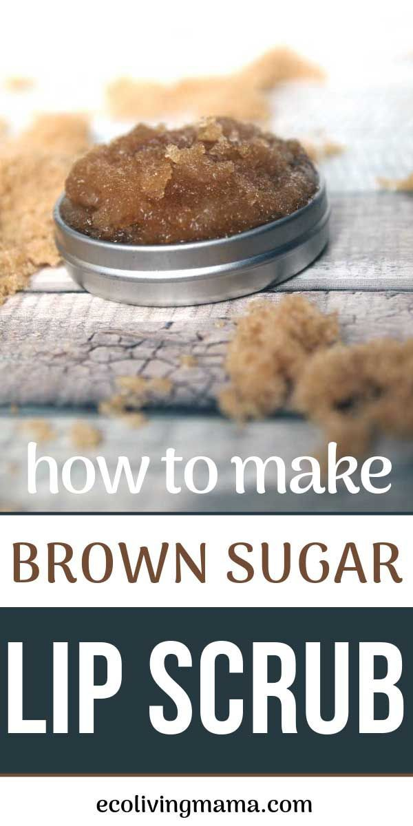 It's so easy to keep lips silky smooth and soft with a homemade brown sugar an...