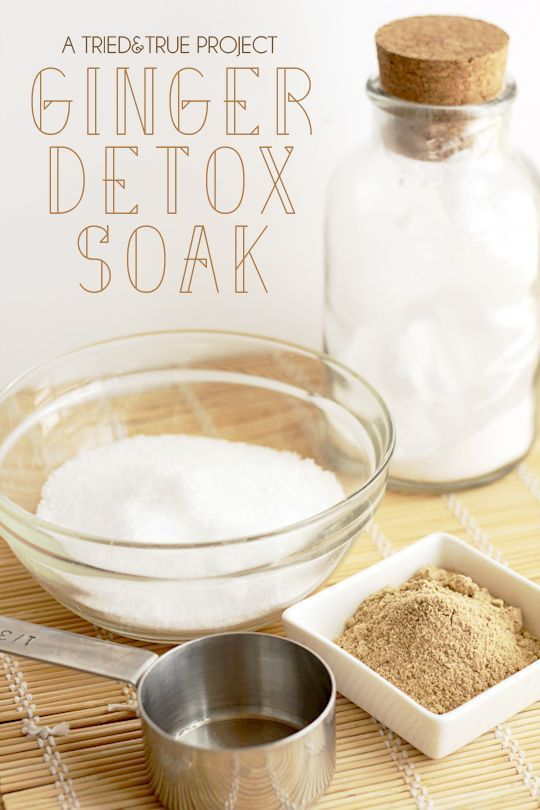 Ginger Detox Bath Soak - Easy to make with just a few supplies in your kitchen! ...