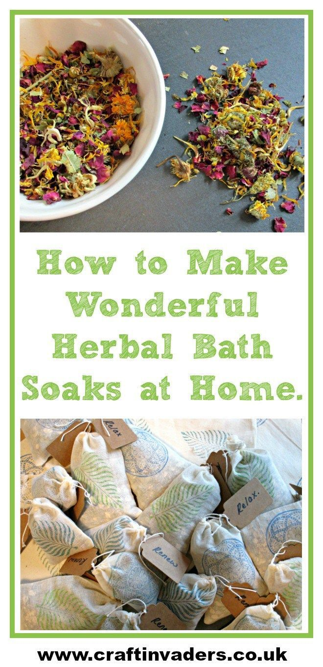 These wonderful herbal bath soaks are great fun to make, fabulous for your healt...