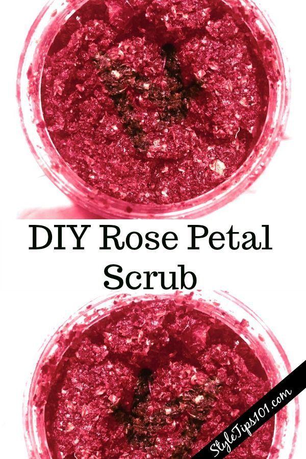 DIY rose petal scrub