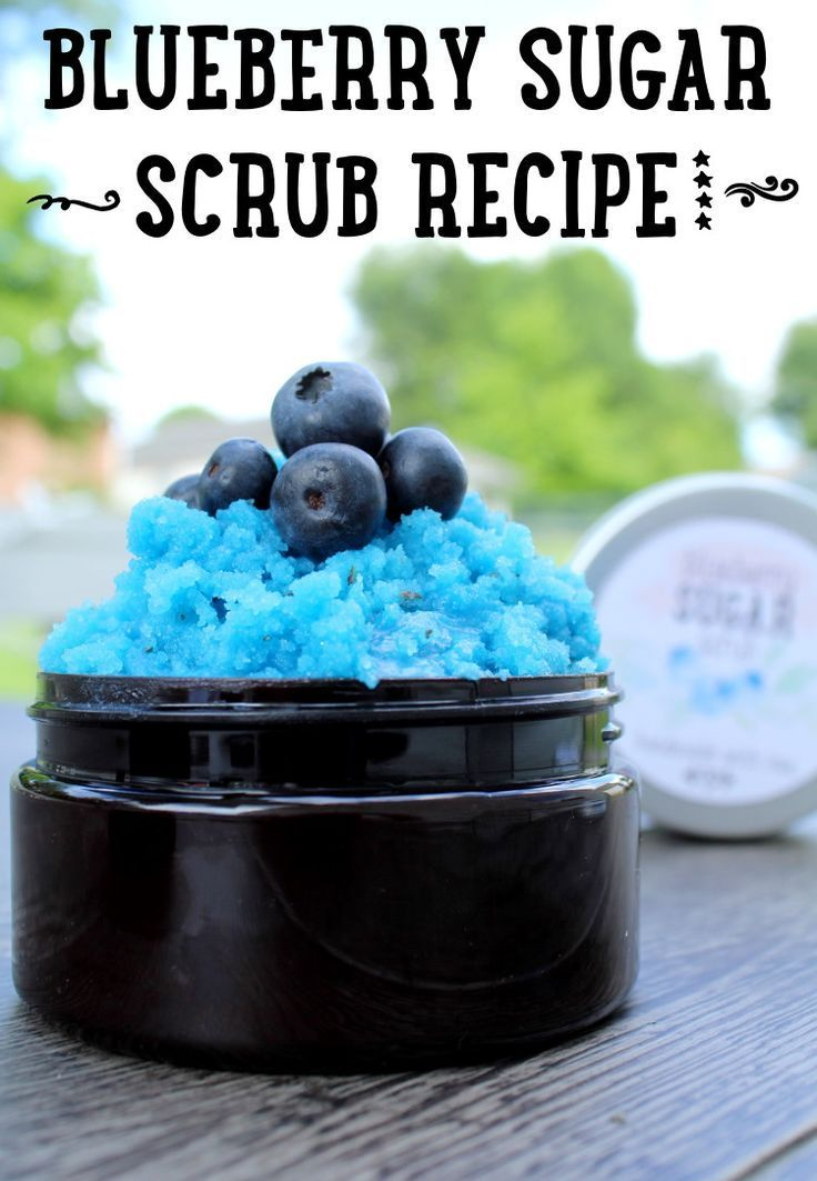Emulsified Blueberry Sugar Scrub Recipe with Free Printable Labels for Homemade ...