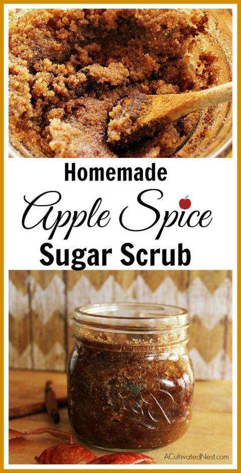 Easy Homemade Apple Spice Body Scrub