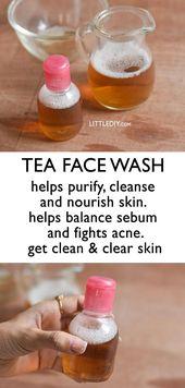 TEA FACE WASH to purify skin - LITTLE DIY