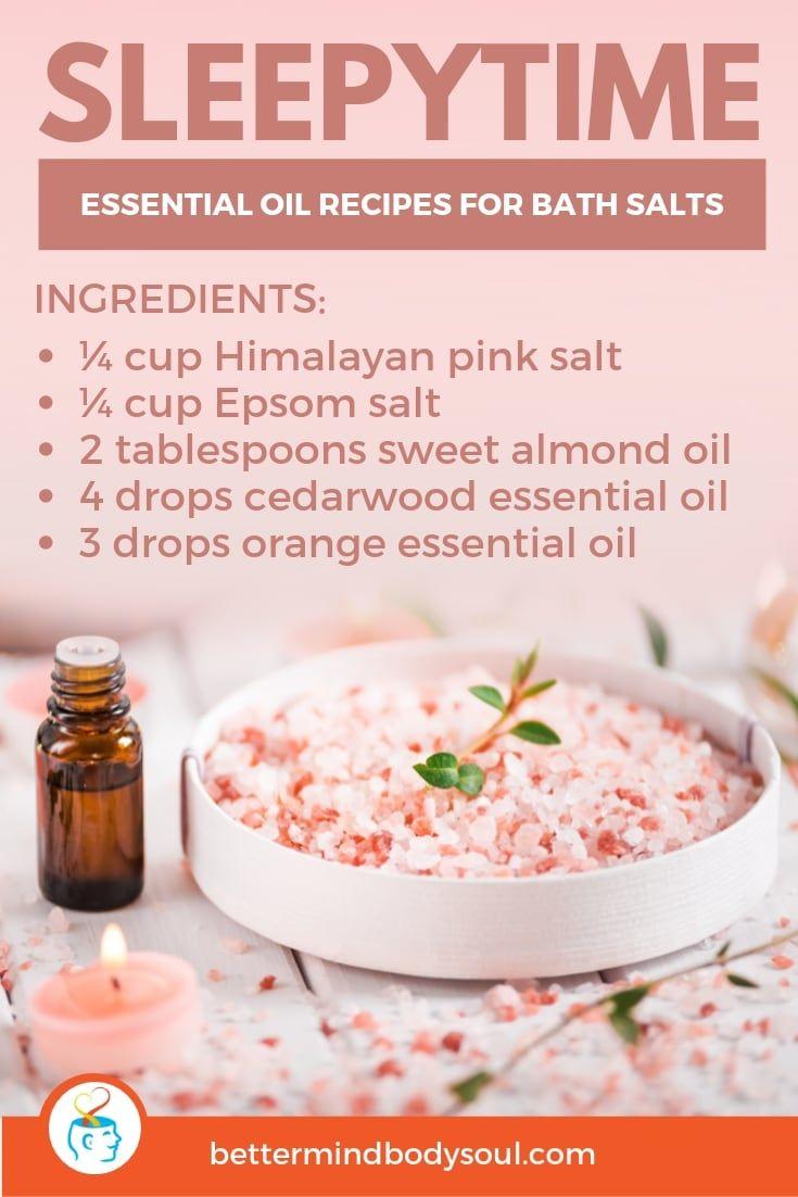 21 Essential Oil Recipes for Bath Salts