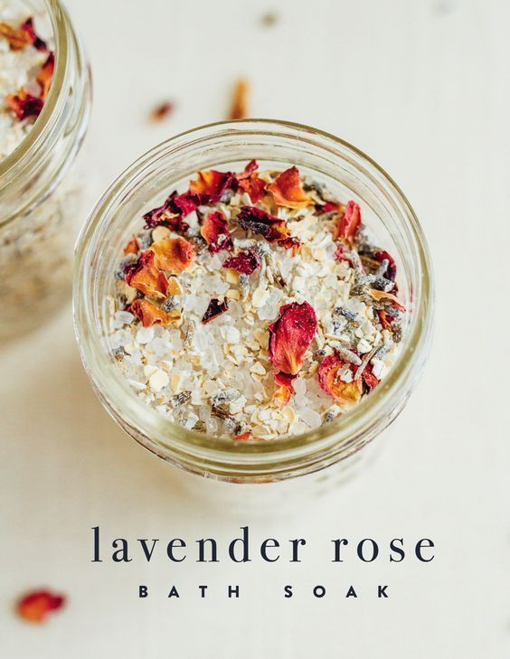 DIY Lavender Rose Bath Soak | Eating Bird Food