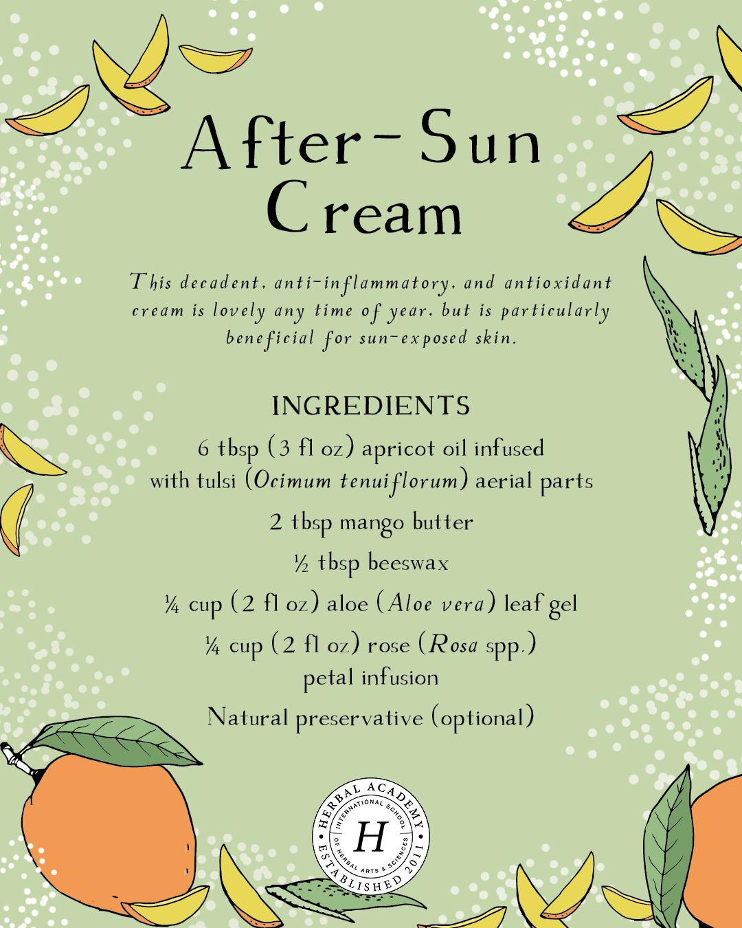 Remedies For Sunburn and Summer Heat - Herbal Academy