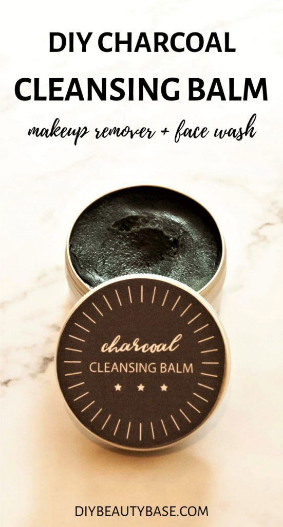DIY Charcoal Cleansing Balm (Emulsifying)
