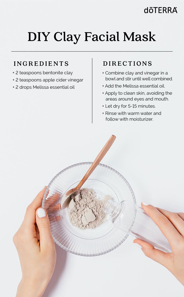 DIY Clay Facial Mask with Melissa Essential Oil