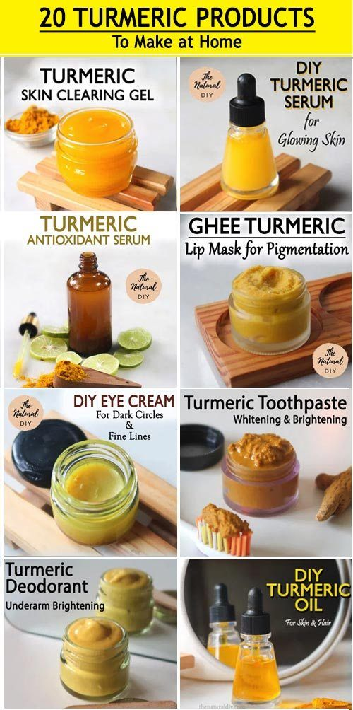 20 Turmeric Products You Can Make At Home - The Natural DIY